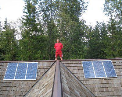 Система резервного питания на солнечных батареях для коттеджа