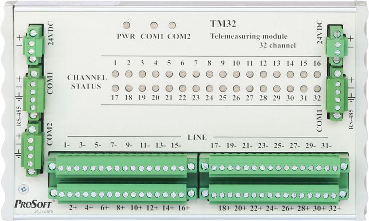 Модуль аналогового ввода TM32