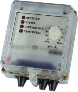УЗОТЭ-2У устройство защитного отключения трехфазного электродвигателя
