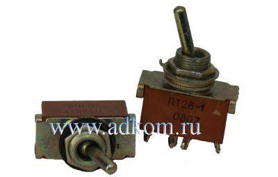Тумблер ПТ-26-1В, 5А, 250В