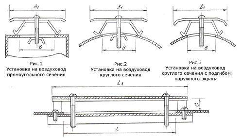 Вытяжное устройство ВУР-1(ВУР.00.000-01) 200х400 для воздуховодов от Ф800 мм и более (от 250х250 мм и более)