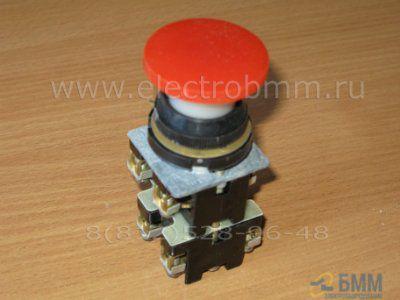Кнопка КЕ 022 исполн. 2 красная, черная
