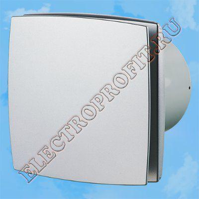 Вентилятор 100 ЛД алюм мат ВЕНТС осевой вытяжной стандарт алюминиевый матовый Ø100