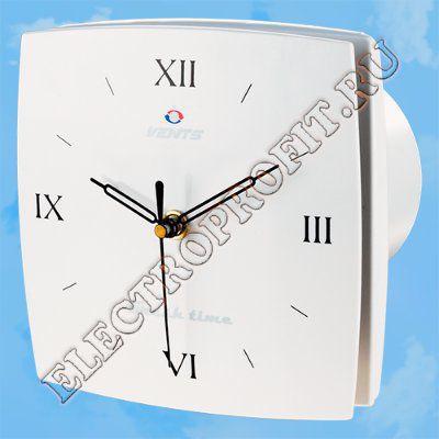 Вентилятор 100 ЛД Фреш тайм РЦ ВЕНТС осевой вытяжной с часами римские цифры D100