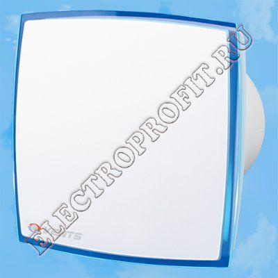 Вентилятор 100 ЛД Лайт синий ВЕНТС осевой вытяжной стандарт оргстекло со светодиодной подсветкой синий D100