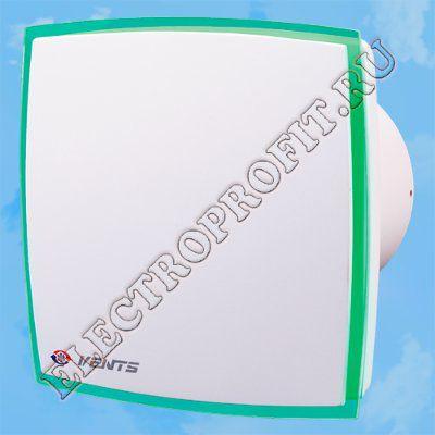 Вентилятор 100 ЛД Лайт зеленый ВЕНТС осевой вытяжной стандарт оргстекло со светодиодной подсветкой зеленый D100
