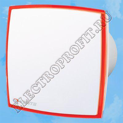 Вентилятор 100 ЛД Лайт красный ВЕНТС осевой вытяжной стандарт оргстекло со светодиодной подсветкой красный D100