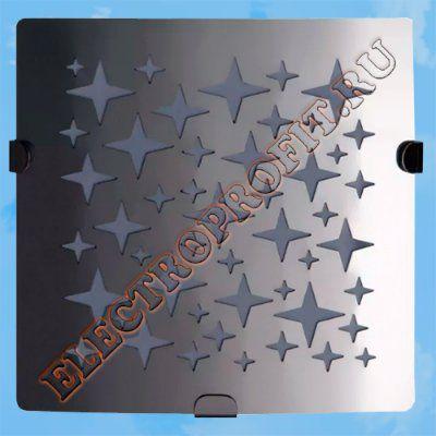 Вентилятор 100 З Стар 1 ВЕНТС осевой вытяжной стандарт панель из нержавеющей стали LED лампа D100