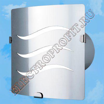 Вентилятор 100 З-6 ВЕНТС осевой вытяжной стандарт панель из нержавеющей стали Ø100