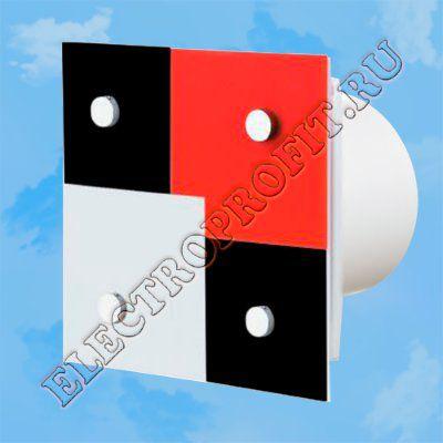 Вентилятор 100 Домино 1 ВЕНТС осевой вытяжной стандарт декоративная панель из оргстекла Ø100