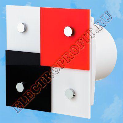 Вентилятор 100 Домино 2 ВЕНТС осевой вытяжной стандарт декоративная панель из оргстекла Ø100