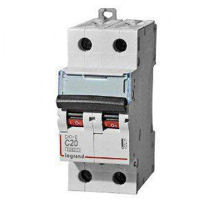 Автоматический выключатель DX3-E C6 2П 6000/6kA Legrand
