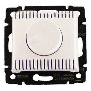 Светорегулятор поворотный 1000вт VALENA белый 770060