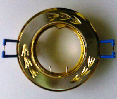 Светильник встр. поворотный СВ 02-01 MR16 50Вт G5.3 матовый никель/золото TDM SQ0359-0001