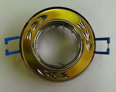 Светильник встр.поворотный СВ 02-01 MR16 50Вт G5.3 матовое золото/никель TDM SQ0359-0002