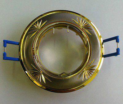 Светильник встраиваемый поворотный СВ 02-04 MR16 50Вт G5.3 матовый никель/золото TDM SQ0359-0010