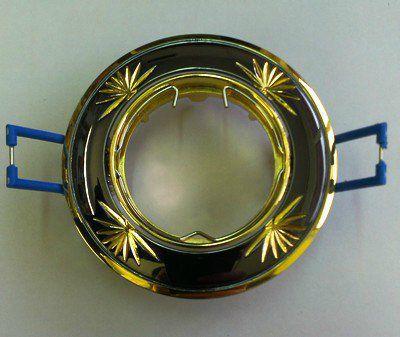 Светильник встраиваемый поворотный СВ 02-04 MR16 50Вт G5.3 чёрный/золото TDM SQ0359-0012