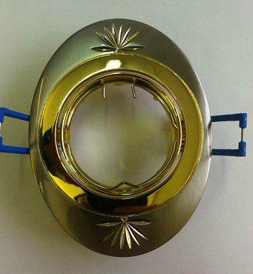 Светильник встраиваемый поворотный СВ 02-05 MR16 50Вт G5.3 матовый никель/золото TDM  SQ0359-0013