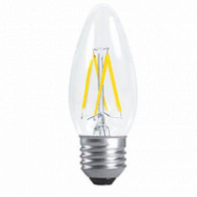 Лампа светодиодная LED Свеча  PREMIUM 5 ВТ 4000к 450лм прозрачная.