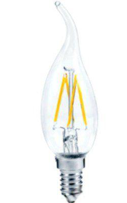 Лампа светодиодная LED Свеча на ветру  PREMIUM 5 ВТ 4000к 450лм прозрачная