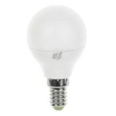 Лампа светодиодная LED шар  standard 5ВТ 160-260 Е14 4000К ASD.