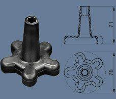 Ключ ОК-10 для притягивания герметичных прокалывающих зажимов