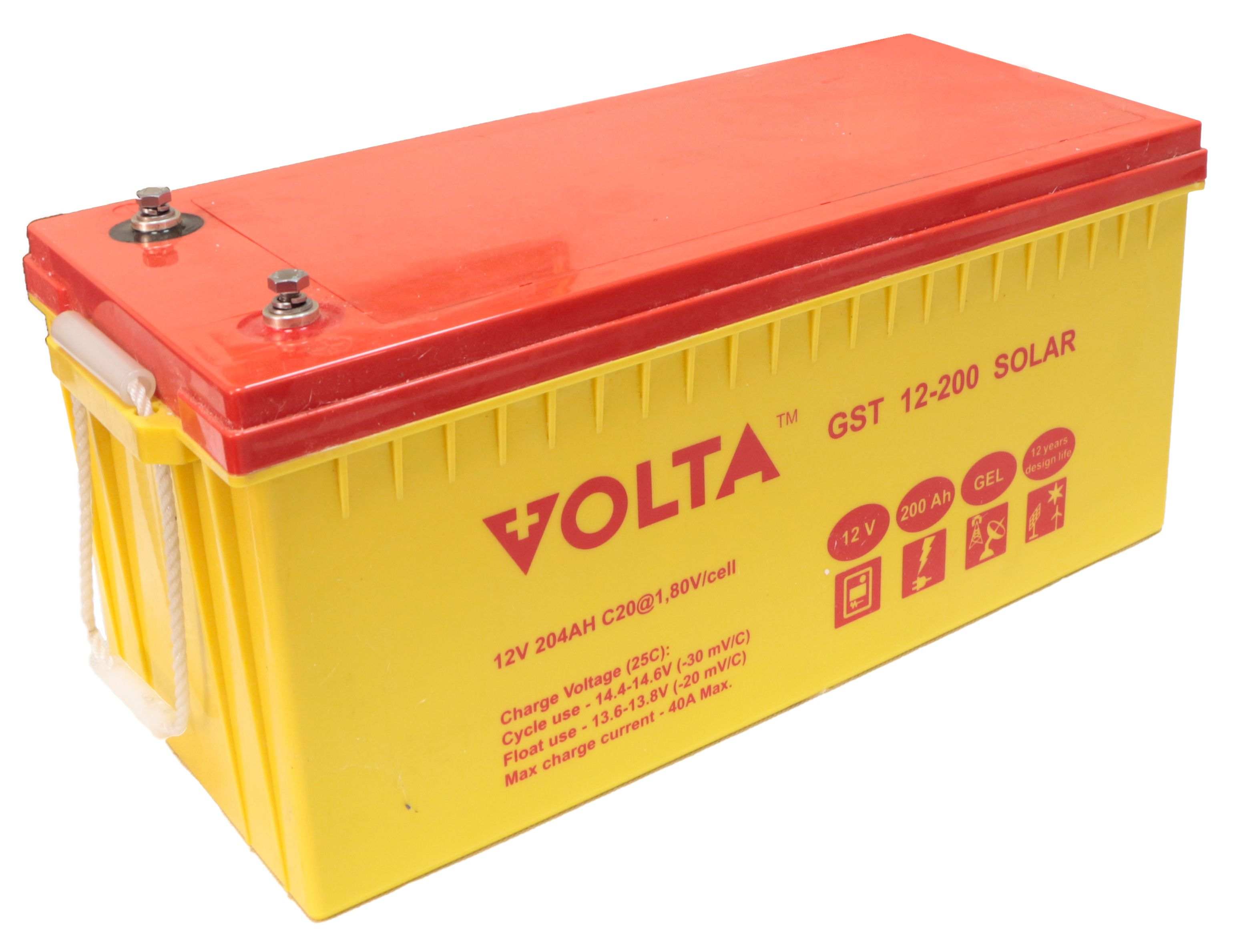 Аккумуляторная батарея Volta GST 12-200 SOLAR GEL 12В