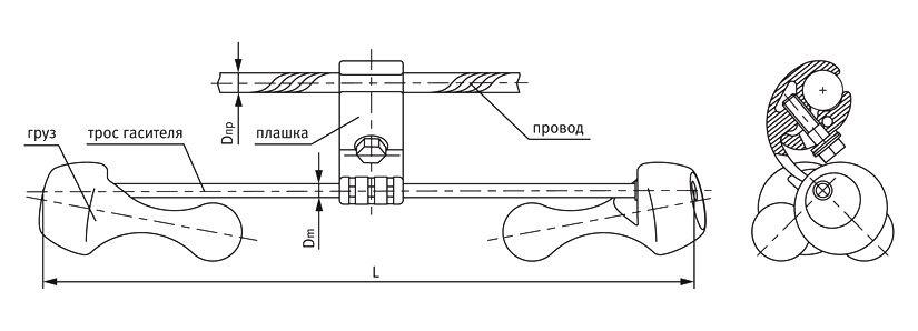 Гаситель вибрации ГВ-3423-02М