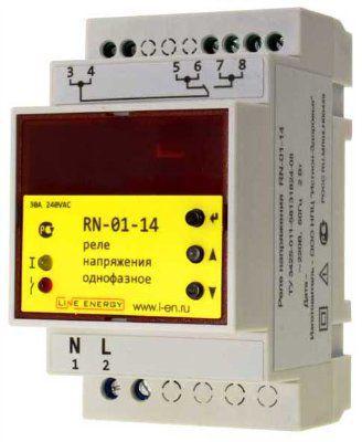 Реле напряжения с защитой по току RN-01-14