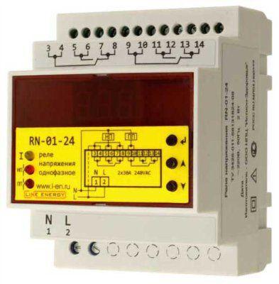 Реле напряжения с защитой по току RN-01-24