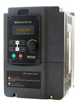 Преобразователи GRANDRIVE серии PFD50 - склад Москва Преобразователи частоты PFD50 поддерживают как скалярное, так и векторное управление и отлично подходят для насосов, вентиляторов, компрессоров, подъемников, конвееров и др. Предназначены для управле
