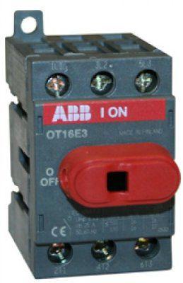 Рубильник 1SCA104857R1001 (OT25F3) до 25 ампер для установки на дин-рейку