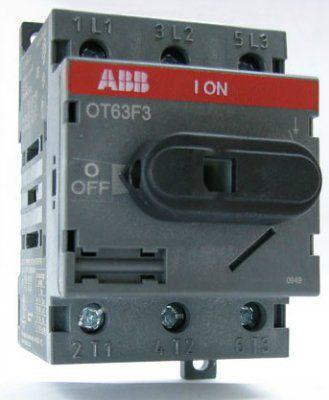 Рубильник 1SCA105798R1001 (OT80F3) до 80 ампер для установки на дин-рейку
