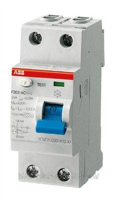 Выключатели дифференциального тока F202 AC-80/0,1