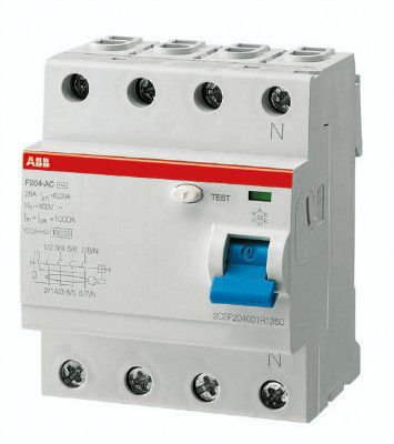 Выключатели дифференциального тока F204 AC-25/0,3