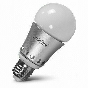 E27 RGB светодиодные лампы для модернизации установки с 6 Вт мощности и 90 до 260 В переменного напряжения  модель №: WME27-BL-L400-6WN2A0-(J)