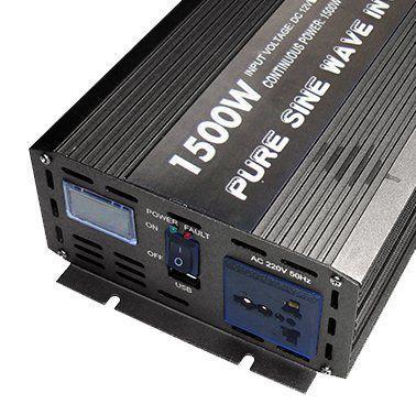 Инвертор GK Power 1500 ватт 12 вольт с дисплеем