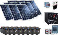 Солнечная электростанция. Система ФЭС-1600 ( P ном. — 6,0 кВт ( 230 В~) Среднесуточное потребление до 8 кВт