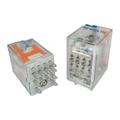 AE-403DLTU Реле промежуточное 5А, 4С, 24VDC, Амитрон аналог SCLD-W-B-4PDT-C 24VDC Song Chuan