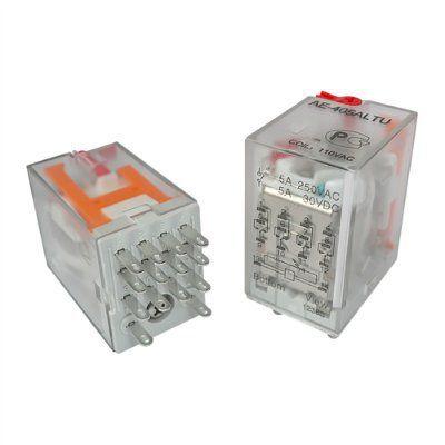 AE-405ALTU Реле промежуточное 5А, 4С, 110VAC, Амитрон аналог 553481100054 Finder