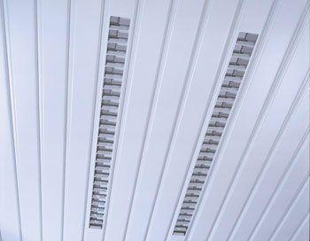 Встраиваемый люминесцентный светильник ЛВО 2х36Вт
