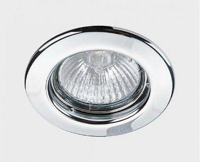 Светильник встраиваемый точечный круглый неповоротный, MR16 C 1830 Хром Nobile (Германия)