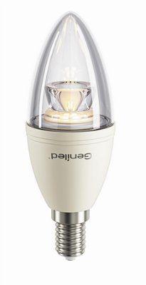 Светодиодная лампа свеча прозрачная  диммируемая 8W E14 2700 K, 180–240 V, 50/60 Hz