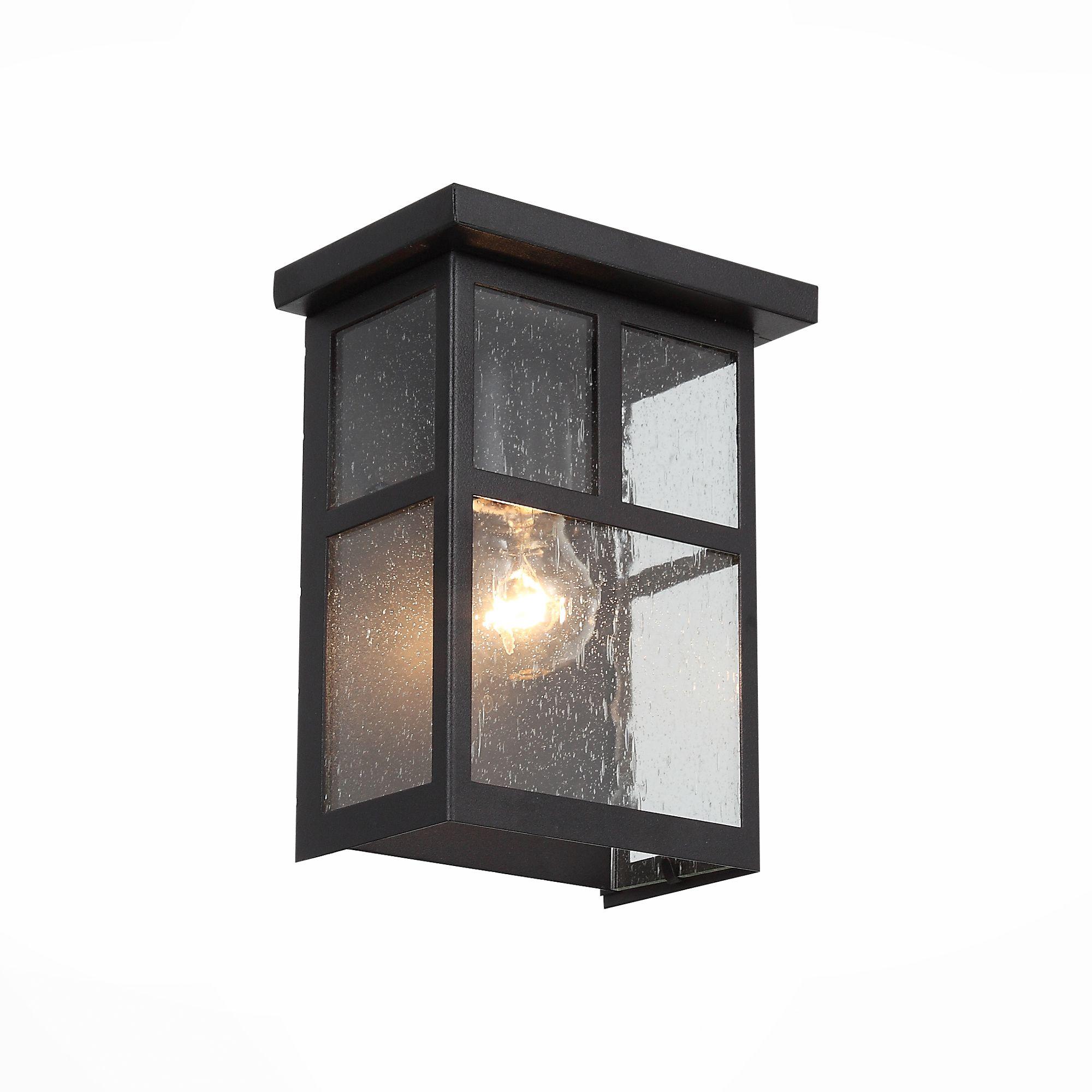 Светильник уличный настенный ST-Luce Темный кофе/Прозрачное кракелированное стекло E27 SL079.401.01