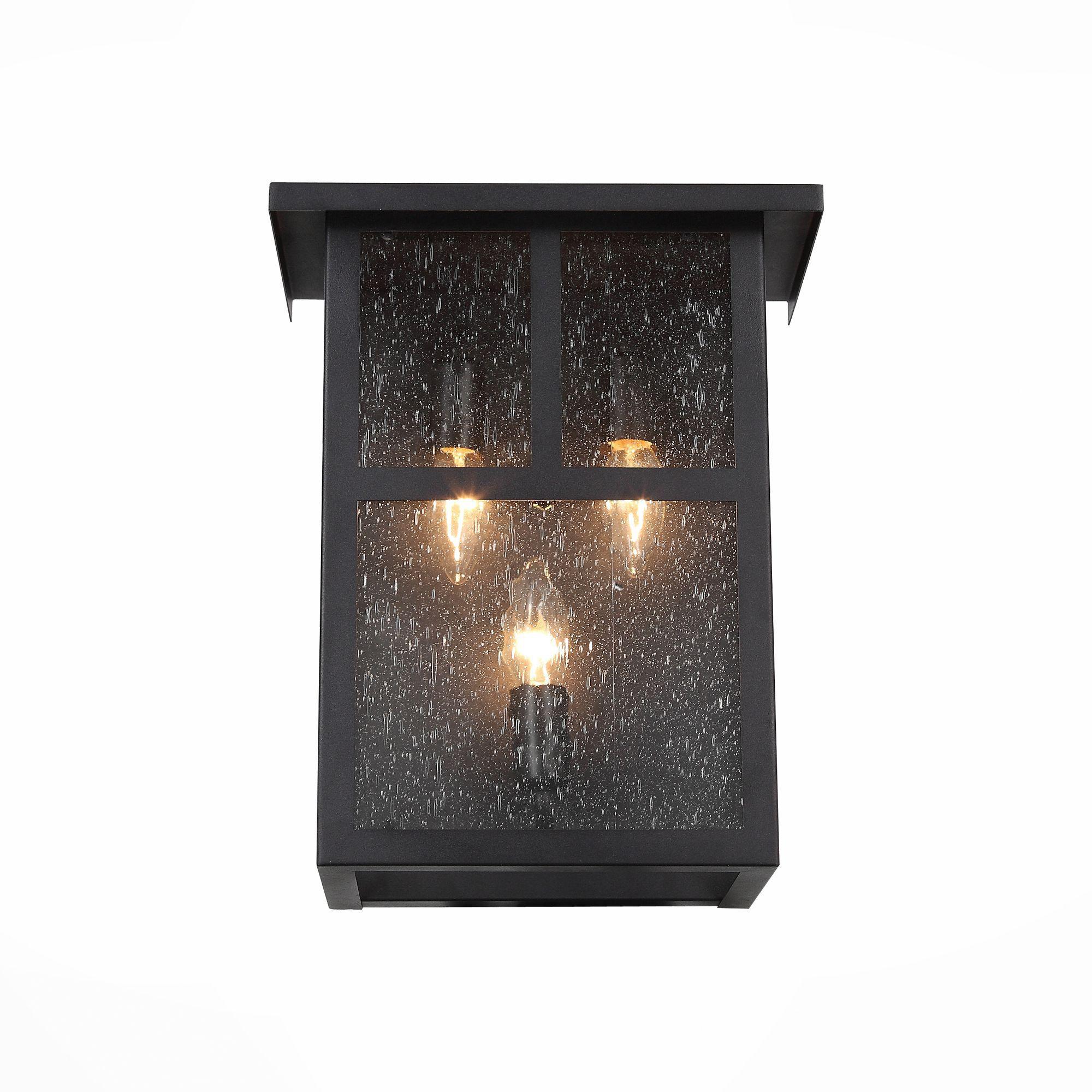 Светильник уличный настенный ST-Luce Темный кофе/Прозрачное кракелированное стекло E14 SL079.401.03