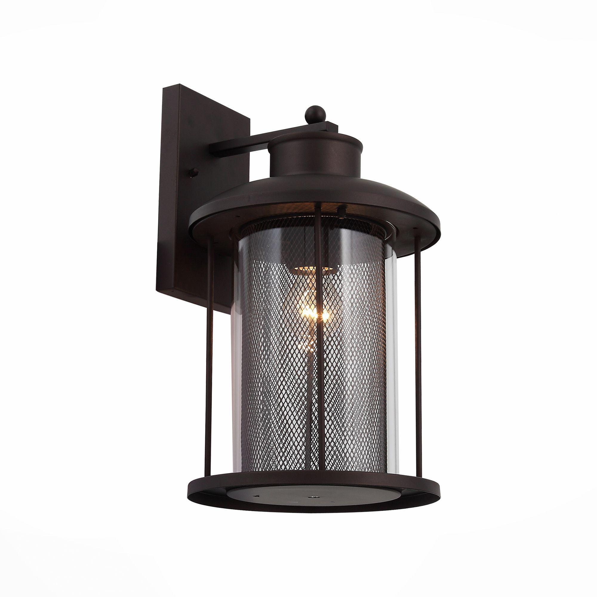 Светильник уличный настенный ST-Luce Темный кофе/Прозрачный, Темный кофе E27 1*60W SL080.401.01