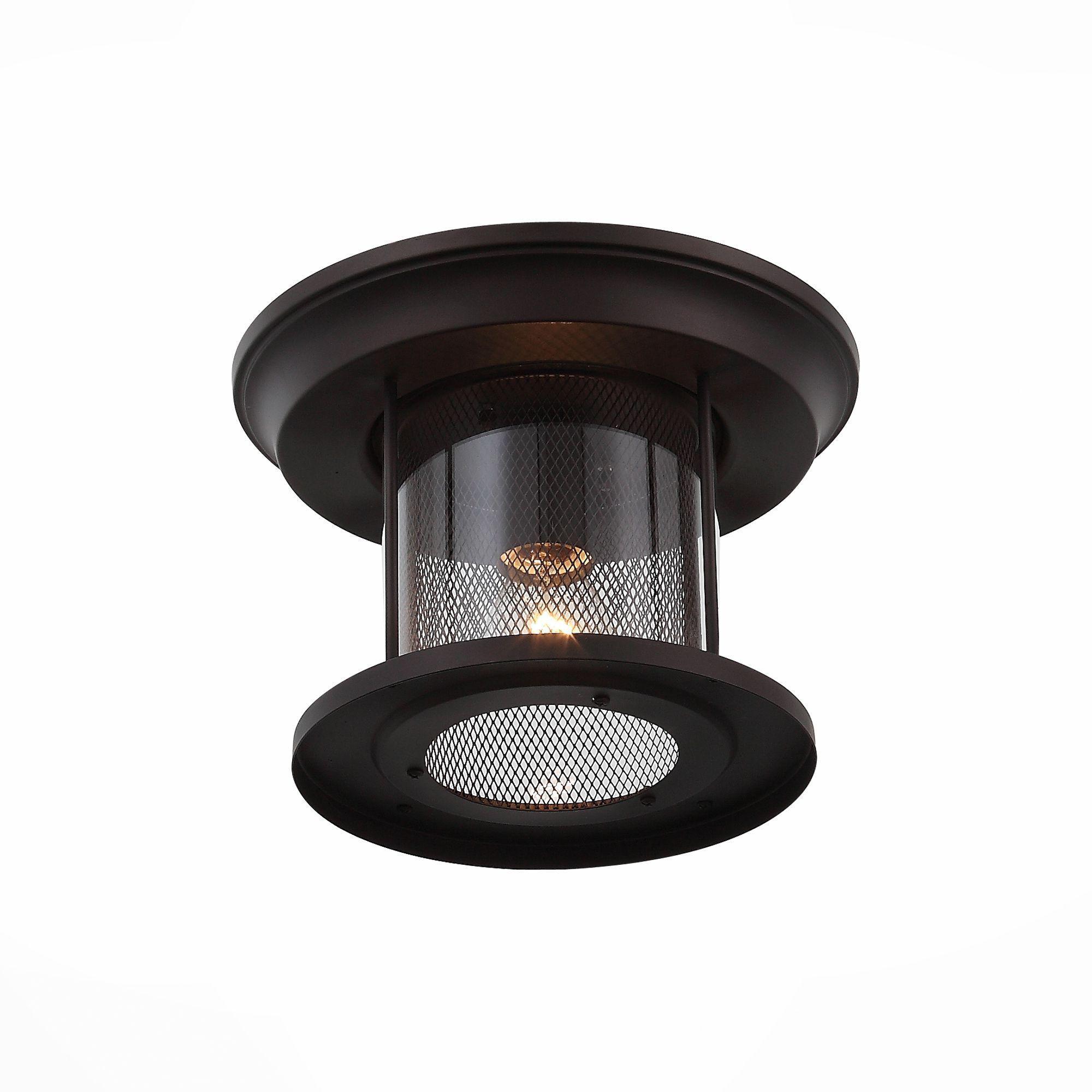 Светильник уличный потолочный ST-Luce Темный кофе/Прозрачный, Темный кофе E27 1*60W SL080.402.01