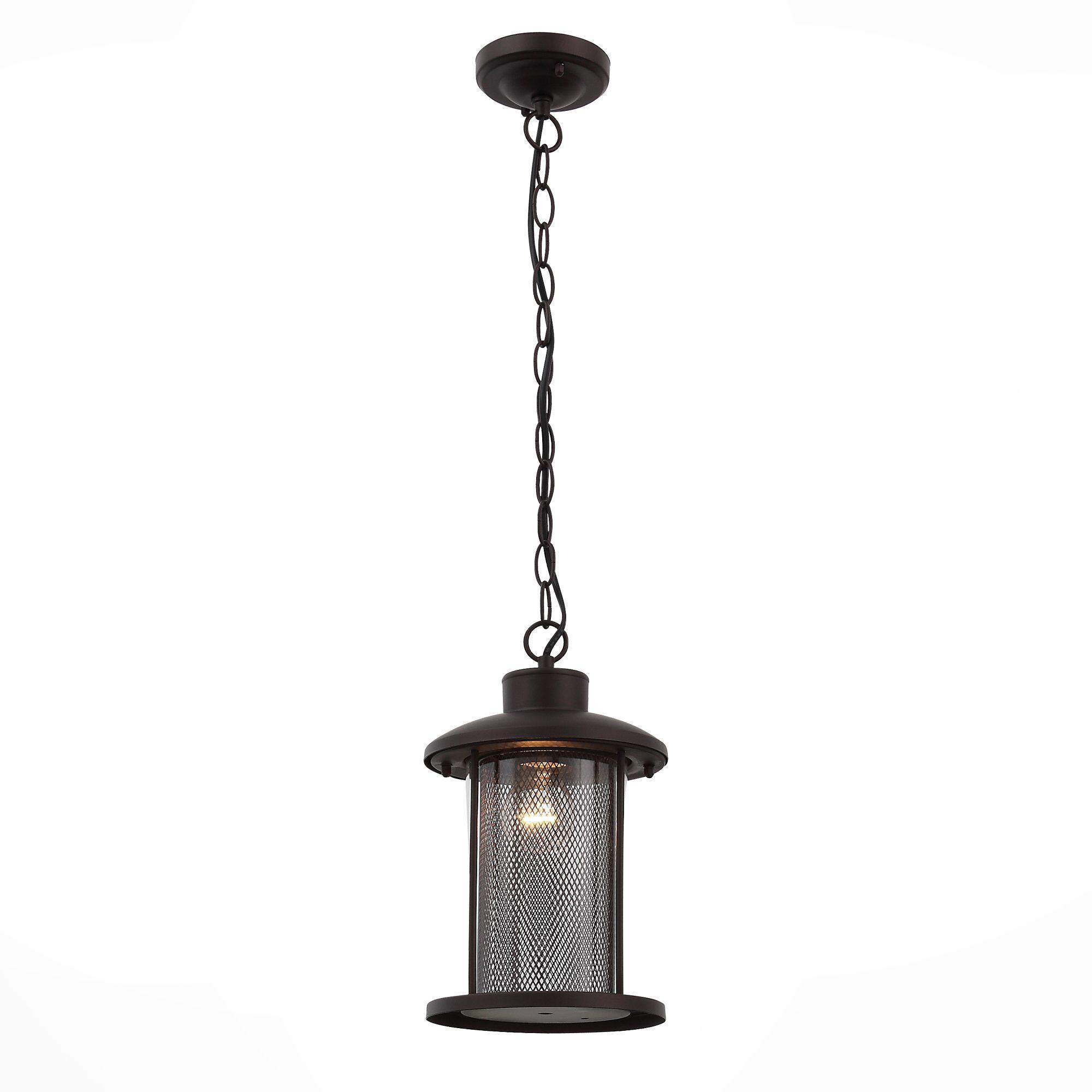 Светильник уличный подвесной ST-Luce Темный кофе/Прозрачный, Темный кофе E27 1*60W SL080.403.01