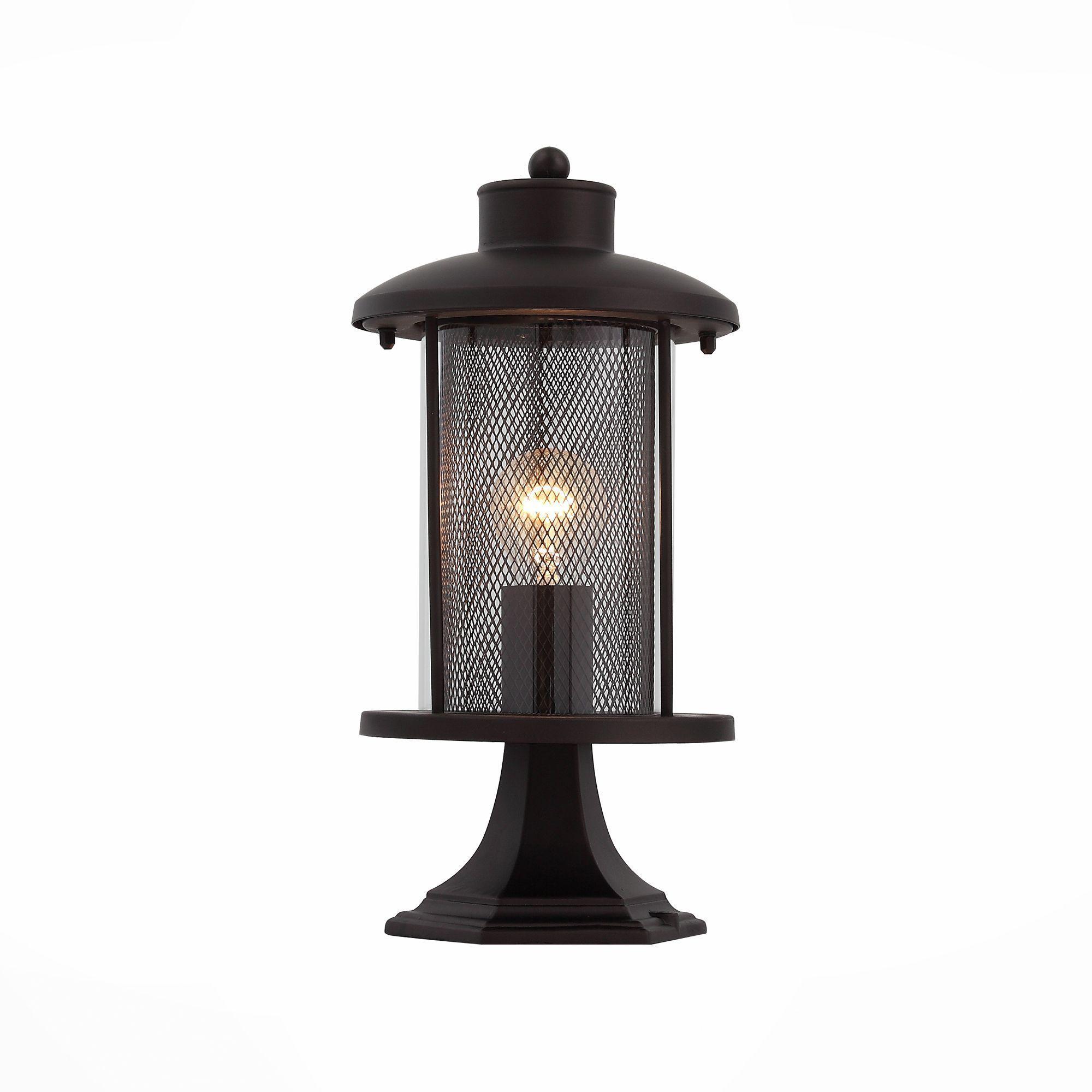 Светильник уличный наземный ST-Luce Темный кофе/Прозрачный, Темный кофе E27 1*60W SL080.405.01