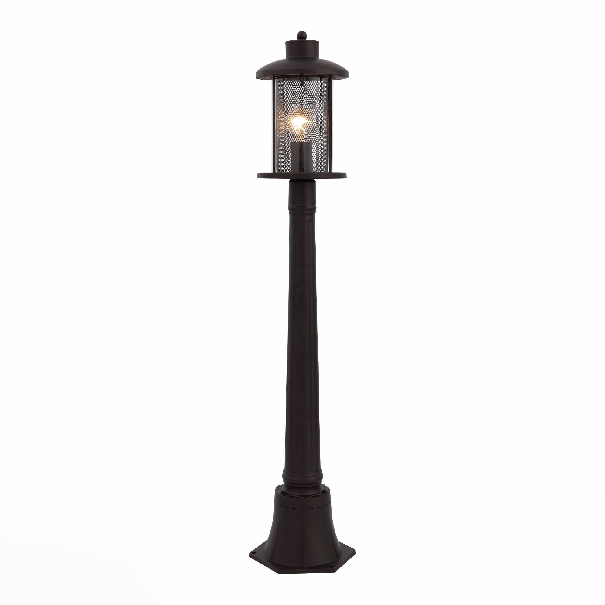 Светильник уличный наземный ST-Luce Темный кофе/Прозрачный, Темный кофе E27 1*60W SL080.415.01